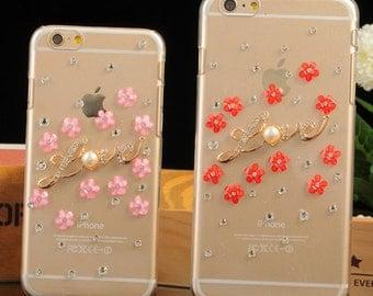 Resin flower phone case, nice flower phone case-mb062
