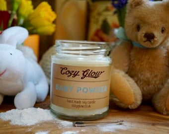 Baby Powder  Soy Candle 6.8 ounce Jar
