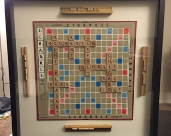 Customized Scrabble Wall Hanging - Decoration, Family, Names Board Game
