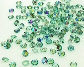 50 Green Diamond Cut Mini Crystals for Floating Lockets