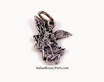 Saint Michael The Archangel Rosary Bracelet Medal Charm | Italian Rosary Parts