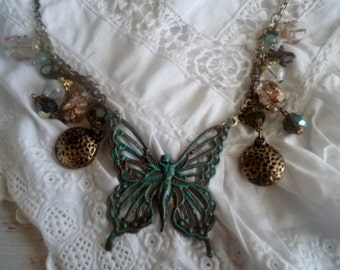 """Bohemian necklace """"Butterfly"""",Necklace retro style,"""