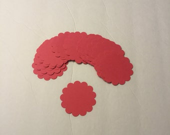 "red 2 1/2 "" round scallop - card stock"