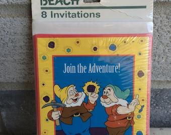 Snow White Dwarfs Party Invitations, Snow White Party, Snow White Party Invitations
