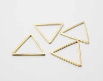 P0195/Anti-Tarnished Gold Plating Over Brass/Triangle Connector/20x20mm/4pcs