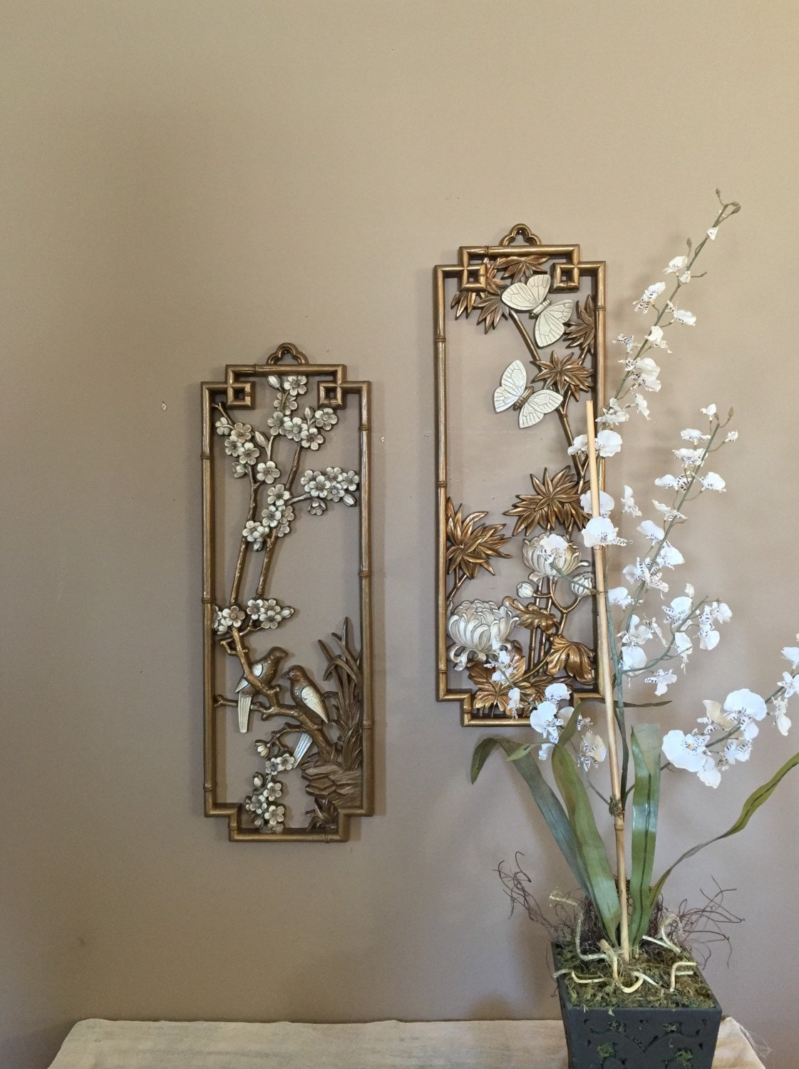 mid century wall art gold wall art gold butterfly decor. Black Bedroom Furniture Sets. Home Design Ideas