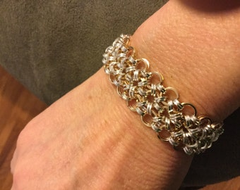 Japanese Lace Bracelet (Chain Mail) Sterling Silver