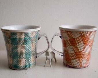 Pair of vintage plastic cups