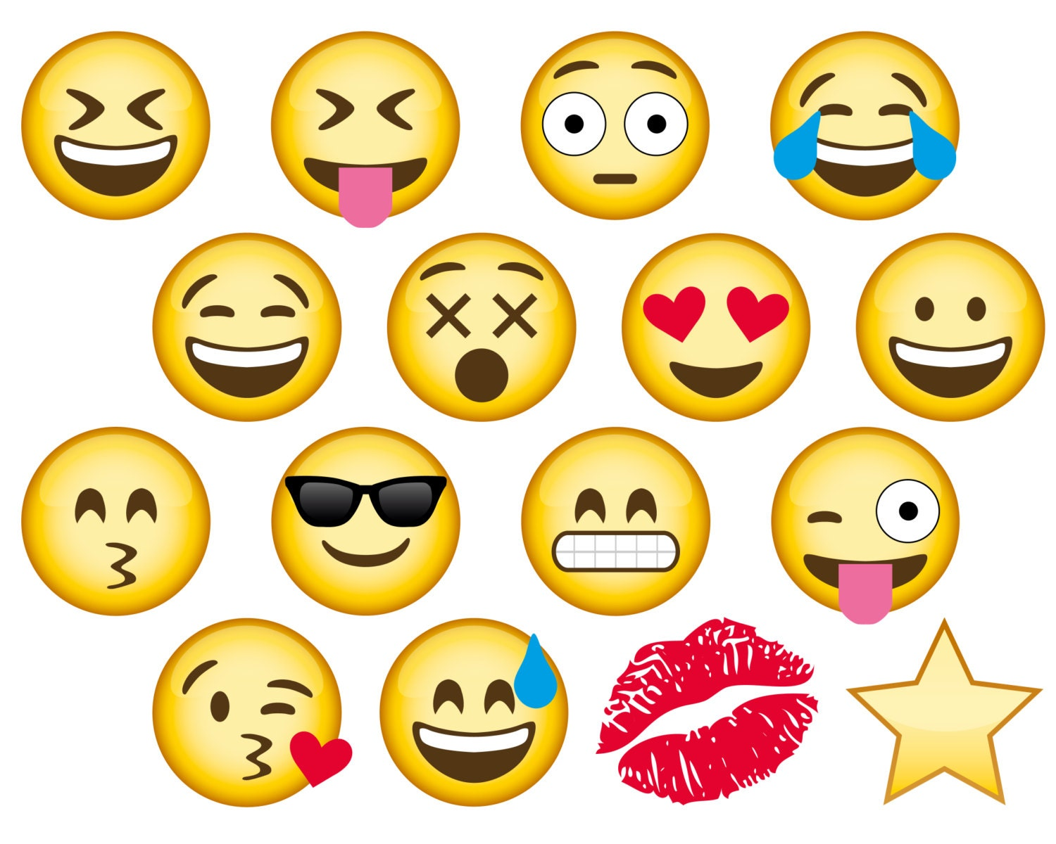Clever image throughout printable emoji photo booth props