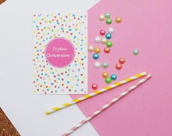 Card birthday confetti