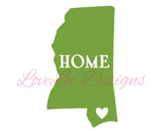 Mississippi Home decal/Car Decal/Wall Decal/Window/Sticker