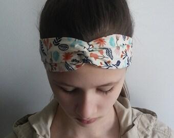 Nature interlocking headband, Headband, Womens headband, Girls headband, Spring headband.