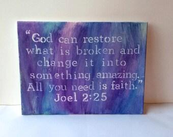 Bible Passage Canvas