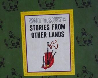 Vintage Stories from other Lands Book,Walt Disney stories,Childrens book,