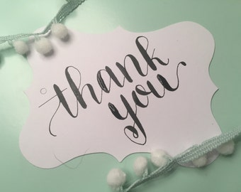 Decorative Thank You Tags - Set of 10