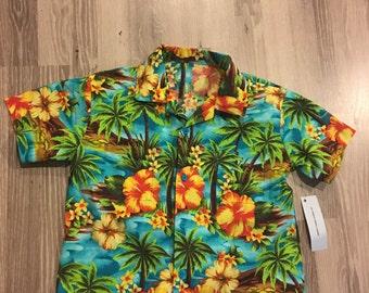 Boys Hawaiian Shirt - Hibiscus
