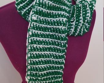 Crochet-Knit Scarf