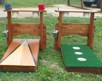 Double Sided Washer Boards & Cornhole Boards with Drink Holders