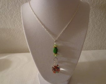 Stunning Vintage Colorful Silver and Gold Bubble Necklace