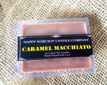 Caramel Macchiato, Soy wax melts, triple scented, coffee scented wax melts, flameless scent, Starbucks, wax warmer melts, wax tarts