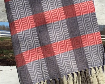 Pink and Purple Plaid Lap Blanket
