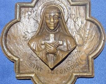 Plaque of St Lutgard