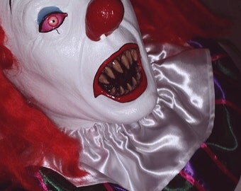 IT Pennywise Clown Stephen King Halloween Latex Mask