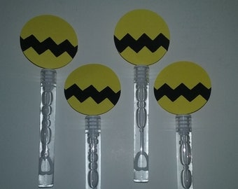 Set of 10 Charlie Brown inspired bubbles, Peanuts bubbles, Charlie Brown Party Favors