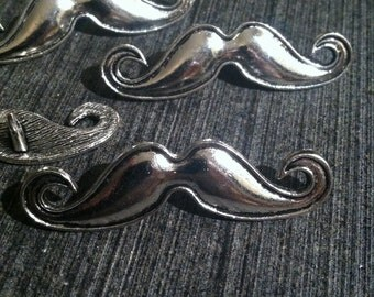 5pcs Tibetan Silver Mustache Connector Charms 48mm by 14mm Findings Jewelry Making Supplies Connectors Charm (ID BC-21)