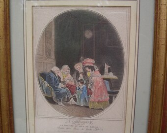 Antique French Print from the 19th century