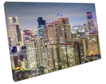Sky View of Office BUILDINGS In Japan Canvas WALL ART C2335