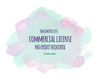 Limited Commercial License NO Credit required - for all product