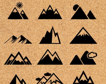 Mountain SVG, Mountain vector graphic, Mountain cut files,  Mountain clipart, svg files, ID#CL6