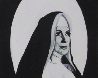 Black and white nun