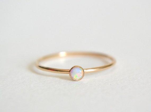 Gold Opal Ring Gold Filled Opal Ring Opal Ring Gold White