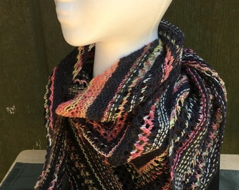 Hand Knit Shawl - Variations on a theme