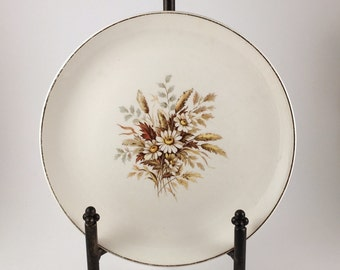 American Limoges China Plate, Sundale G-1 Pattern, 22k Gold, 1948, Numbered, Vintage Glamour by American Limoges China Co, Daisy Pattern