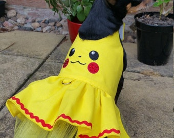 Small Dog Pokemons Dress Clothes Pikachu Costume halloween outfit Puppy Clothes Chihuahua Coat Yorkie, other sizes, colours