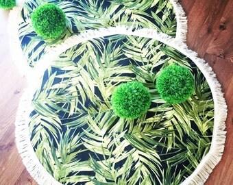 Round baby play mat jungle