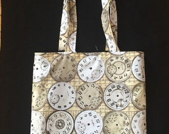 Clocks Reversible Tote