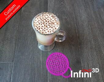 Geometric Pattern Coffee stencil