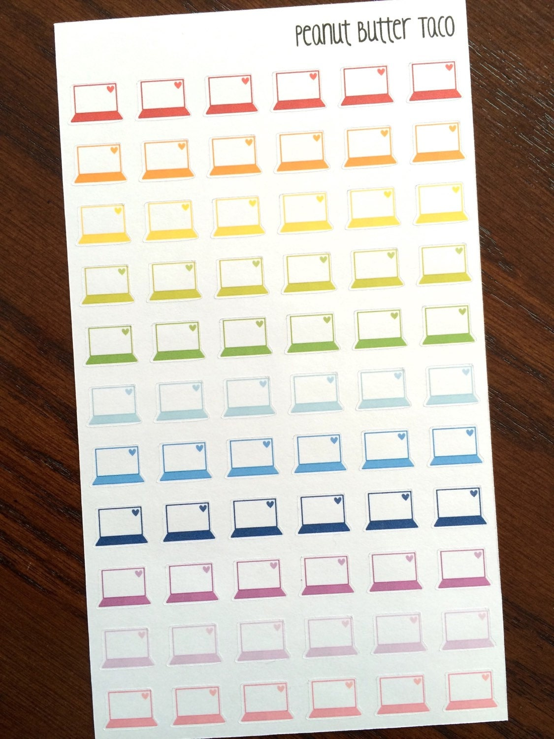 Calendar Planner For Laptop : Tiny laptop planner stickers