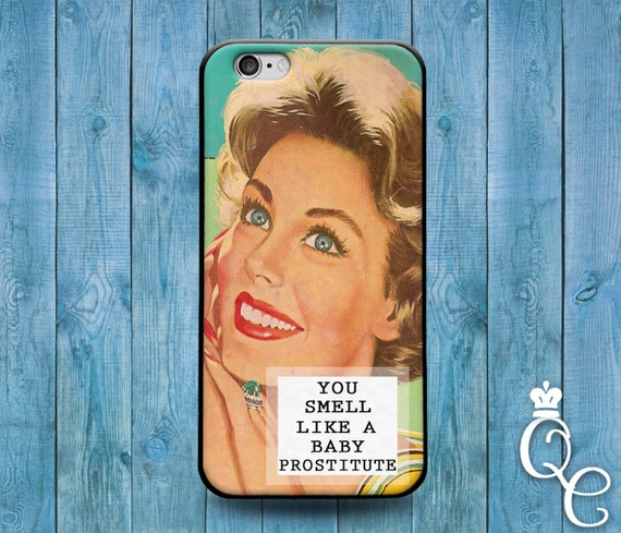 iPhone 4 4s 5 5s 5c SE 6 6s 7 plus iPod Touch 4th 5th 6th Generation Cute You Smell Like a Baby Mean Funny Custom Quote Cover Life Cool Case