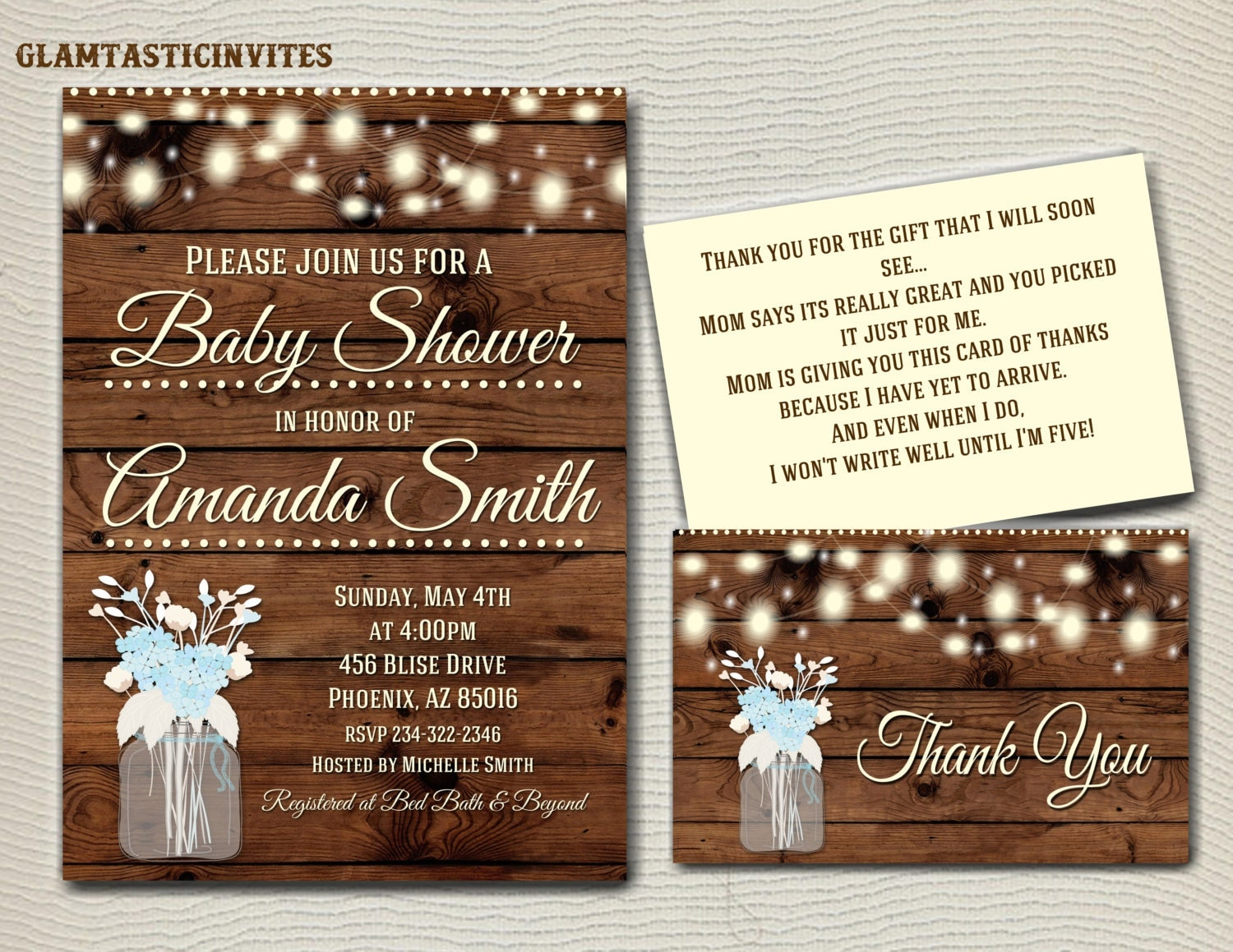 rustic baby shower invitation flower baby shower invitation