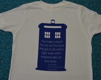 TARDIS - a quote from Rose Tyler
