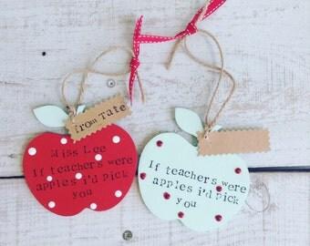Teacher apple gift idea wooden teacher gift teacher apple gift