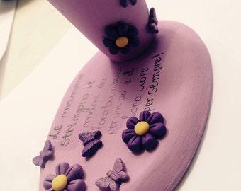 Ceramic pen holder and fimo:)