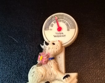 Vintage Dog with Scale Pin **FREE SHIPPING**