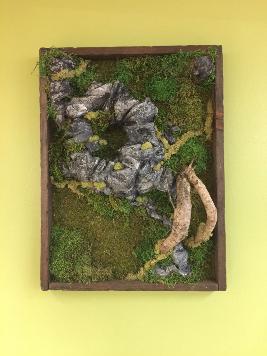 moss sculpture wall art free shipping. Black Bedroom Furniture Sets. Home Design Ideas