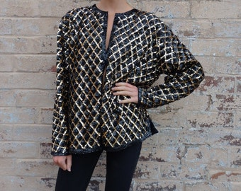 Vintage 80s Fully Sequined Jacket